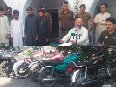 فتح جنگ،موٹر سائیکلیں چوری کرنے والا گینگ گرفتار